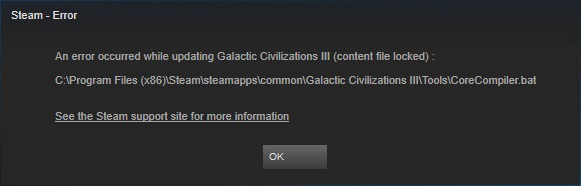How to Fix Steam Content File Locked